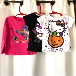 Hello Kitty Lot Of 3 Halloween T-Shirts 3T